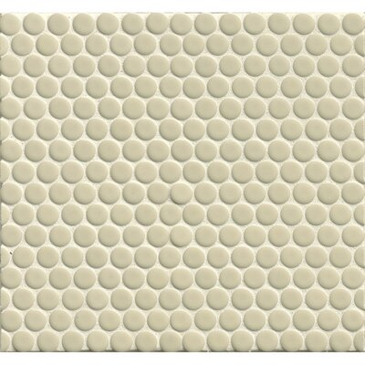 Penny Round Mosaic 12 x 12 Porcelain Tile in Off White