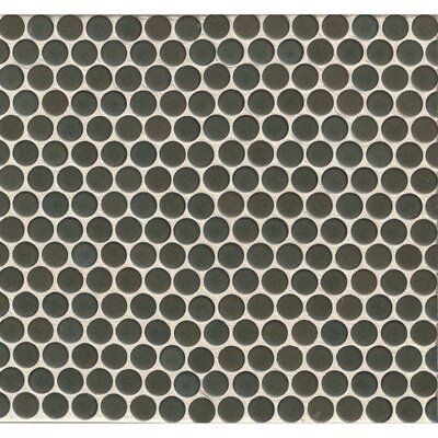 Penny Round Mosaic 12 x 12 Porcelain Tile in Slate Gray