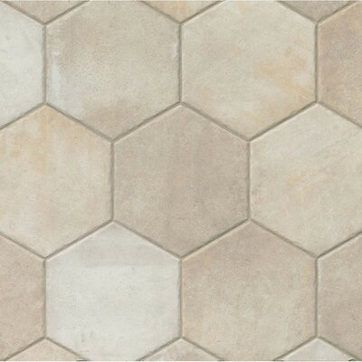 Tribal 13.5 x 13.5 Porcelain Hexagon Tile in Ivory