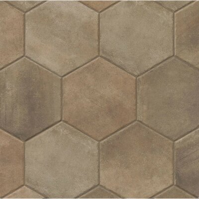 Tribal 13.5 x 13.5 Porcelain Hexagon Tile in Dark