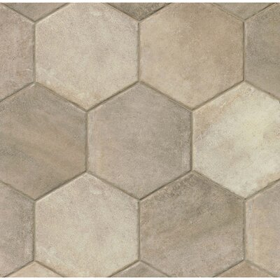 Tribal 13.5 x 13.5 Porcelain Hexagon Tile in Gray