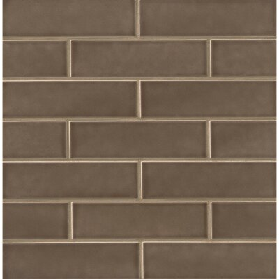 Park Place 2.5 x 9 Ceramic Field Tile in Matte Brown