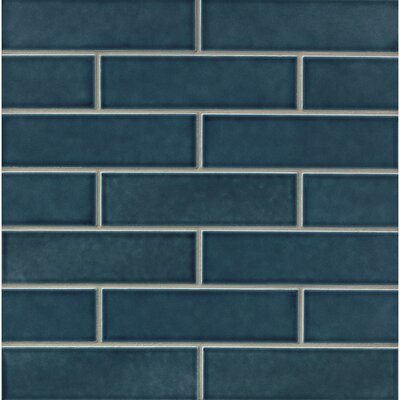 Park Place 2.5 x 9 Ceramic Field Tile in Dark Blue