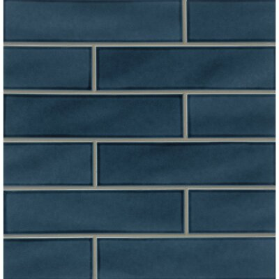 Park Place 3.88 x 16 Ceramic Field Tile in Dark Blue