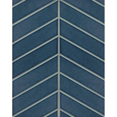 Park Place 2.56 x 9 Ceramic Field Tile in Dark Blue