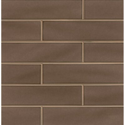 Park Place 3.88 x 16 Porcelain Field Tile in Matte Brown