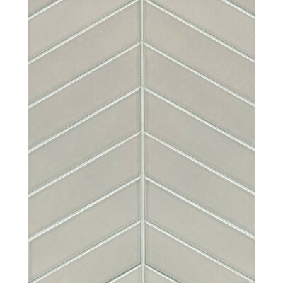 Park Place Chevron 2.57 x 9 Ceramic Field Tile in Gray