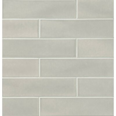 Park Place 3.88 x 16 Porcelain Field Tile in Gray