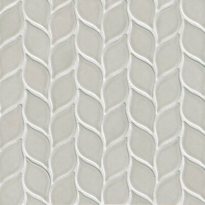Park Place Foliole Ceramic Mosaic Tile in Gray