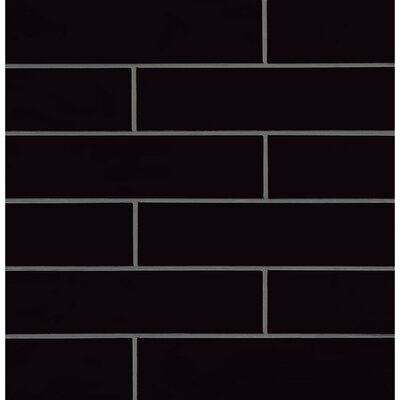 Park Place 3.88 x 16 Porcelain Field Tile in Black