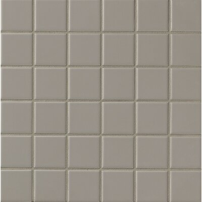 Elements Glazed 2 x 2 Mosaic Tile in Dark Gray