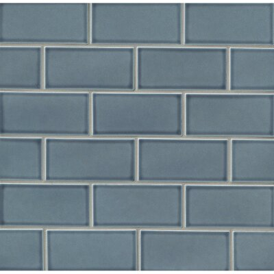 Park Place 3 x 6 Ceramic Subway Tile in Blue