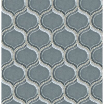 Park Place Lantern Mosaic Tile in Blue