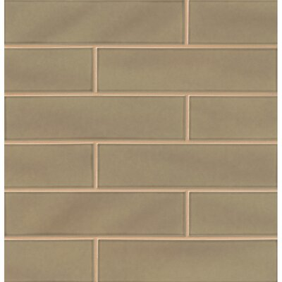 Park Place 3.88 x 16 Ceramic Field Tile in Matte Brown