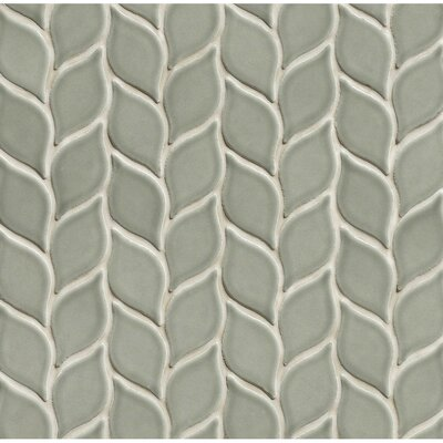 Park Place Ceramic Mosaic Tile in Gray