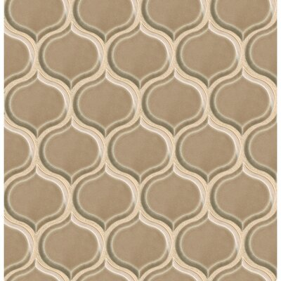 Park Place Lantern Mosaic Tile in Brown