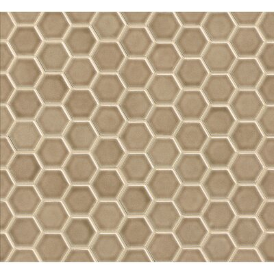 Park Place Hexagon Mosaic Tile in Brown