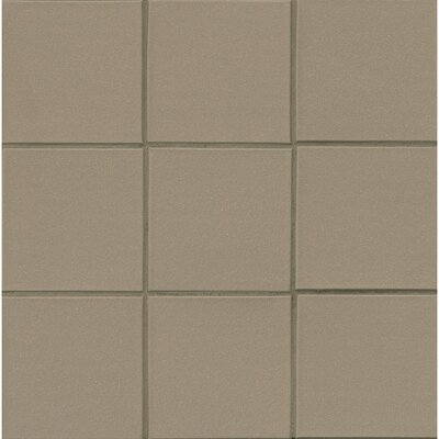 Quarry Basics Abrasive 6 x 6 Porcelain Field Tile in Puritan Gray