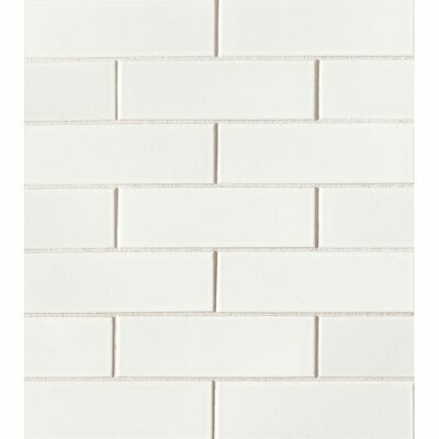 Reverie 2 x 6 Porcelain Mosaic Tile in White
