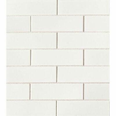 Reverie 2 x 6 Porcelain Mosaic Tile in White