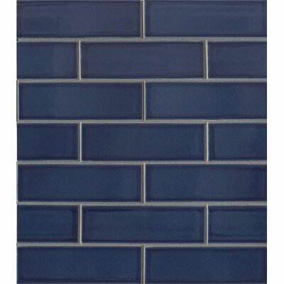 Reverie 2 x 6 Porcelain Subway Tile in Blue
