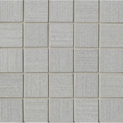 Weston 2 x 2 Porcelain Mosaic Tile in Silver