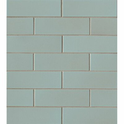 Reverie 2 x 6 Porceclain Subway Tile in Green