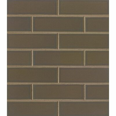 Reverie 2 x 6 Porcelain Subway Tile in Brown