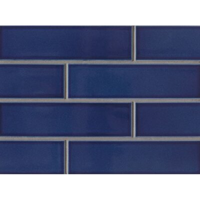 Reverie 2.5 x 9 Porcelain Subway Tile in Blue