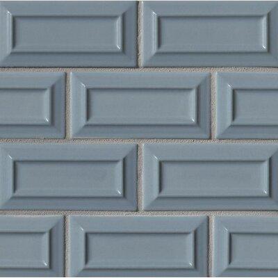 Portofino 3 x 6 Beveled Ceramic Subway Tile in Blue