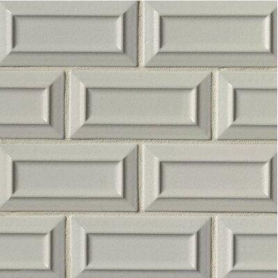 Portofino 3 x 6 Beveled Subway Tile in Gray