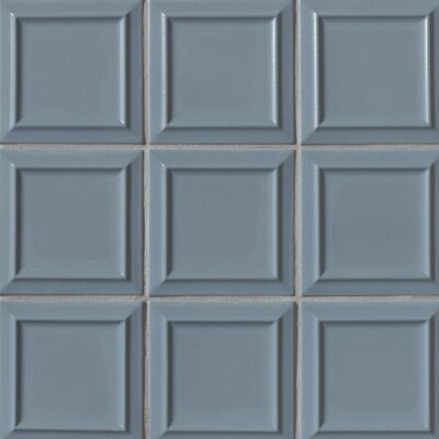 Portofino 6 x 6 Beveled Ceramic Field Tile in Blue