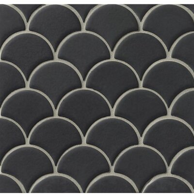 Portofino Random Sized Mosaic Tile in Glazed Black