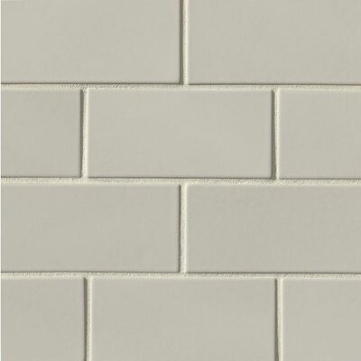 Portofino 3 x 6 Ceramic Subway Tile in Gray