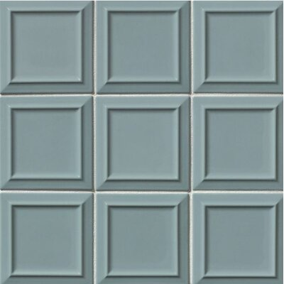 Portofino 6 x 6 Beveled Ceramic Subway Tile in Gray