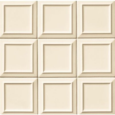 Portofino 6 x 6 Beveled Ceramic Field Tile in Beige