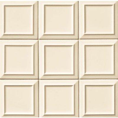 Portofino 6 x 6 Beveled Ceramic Subway Tile in Beige