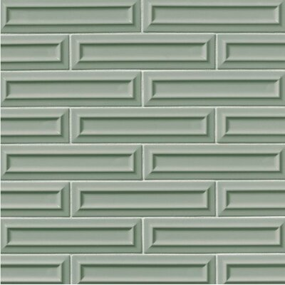 Portofino 3 x 12 Beveled Ceramic Subway Tile in Green
