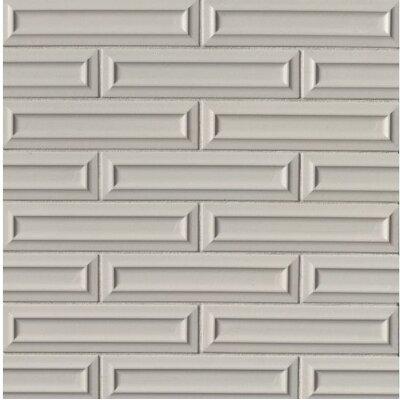 Portofino 3 x 12 Beveled Ceramic Subway Tile in Gray