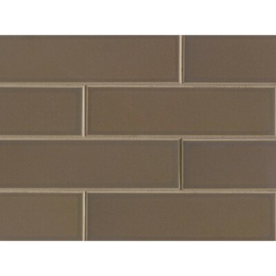 Reverie 2.5 x 9 Porcelain Subway Tile in Brown