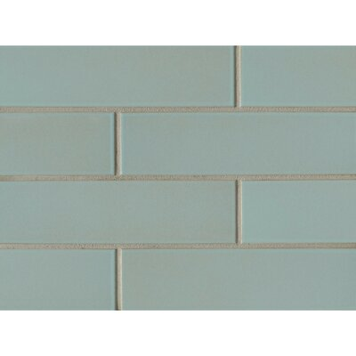 Reverie 2.5 x 9 Porcelain Subway Tile in Green