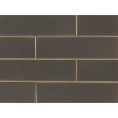 Reverie 2.5 x 9 Porcelain Subway Tile in Matte Brown