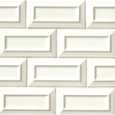 Portofino 3 x 6 Beveled Subway Tile in White Sand