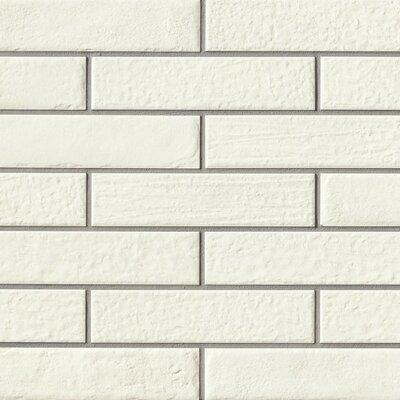 9.75 x 2.38 Porcelain Subway Tile in White