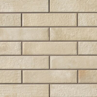 9.75 x 2.38 Porcelain Field Tile in Beige