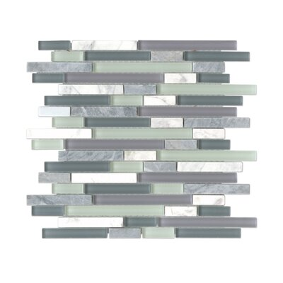 Carlisle Stone Mosaic Linear Blend Tile in Doset