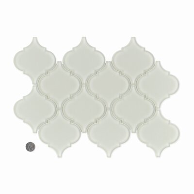 La Palma Glass Mosaic Tile in Glossy Fog