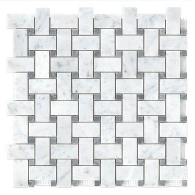 12 x 12 Honed Marble Mosaic Tile in Essex