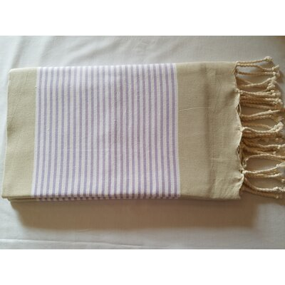 Hand Woven Cotton Bath Sheet Color: Beige