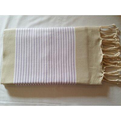 Hand Woven Cotton Bath Sheet Color: Beige